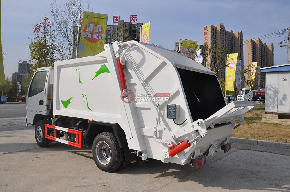 凯马福运来压缩式垃圾车外观图片-左后45度