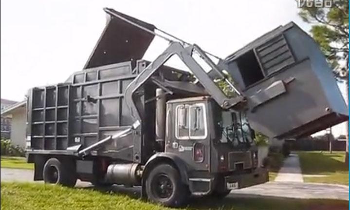 各国的高科技垃圾车