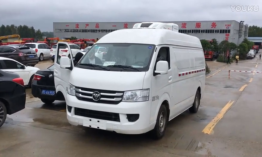 福田G7面包冷藏车发车视频