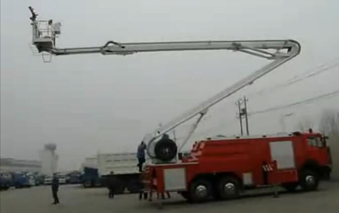 登高平台消防车视频