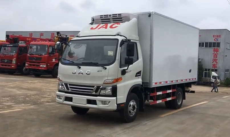 江淮骏铃V6冷藏车视频