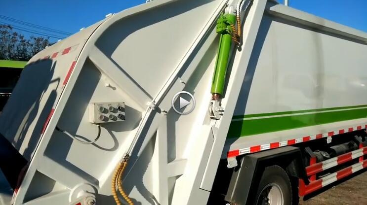 東風8噸壓縮式垃圾車細節視頻