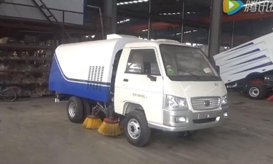 福田小型时代扫路车人行道扫路车厂家视频-高清