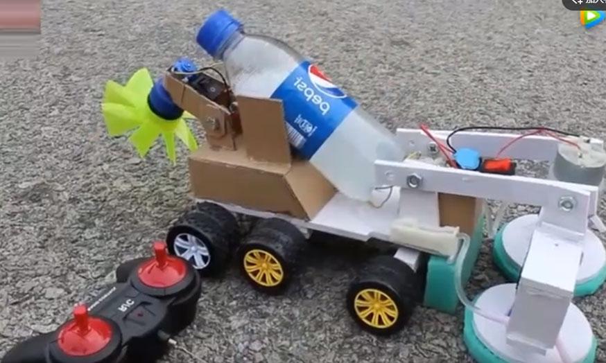 牛人教你自制遥控扫路车,学会后可给孩子做个玩!开起来老霸气了