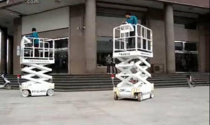 自行走式高空作业车视频