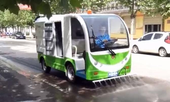彦鑫电动高压清洗车演示视频