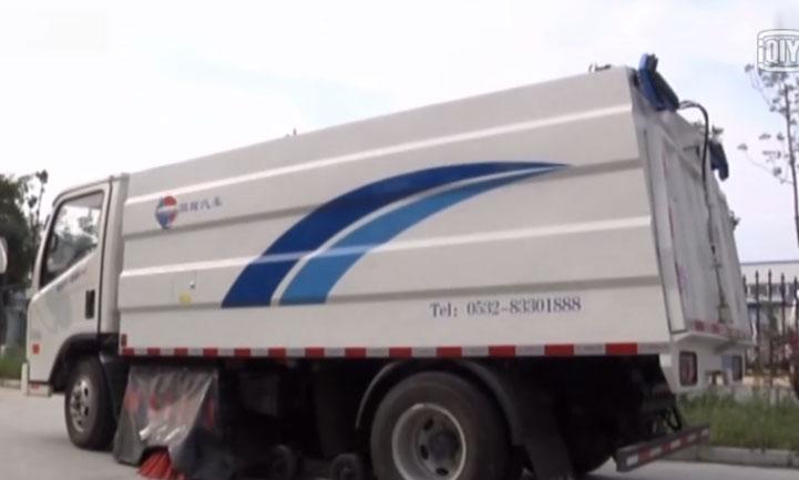 脉冲干式扫路车操作短片