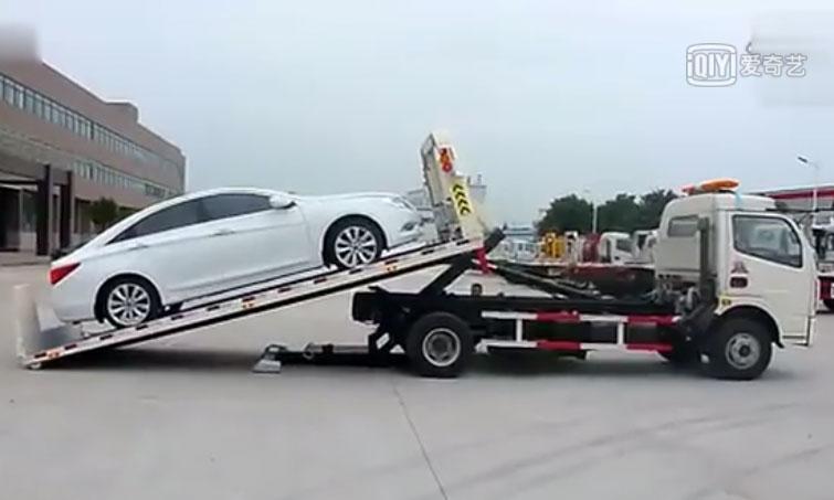 全落地清障车视频